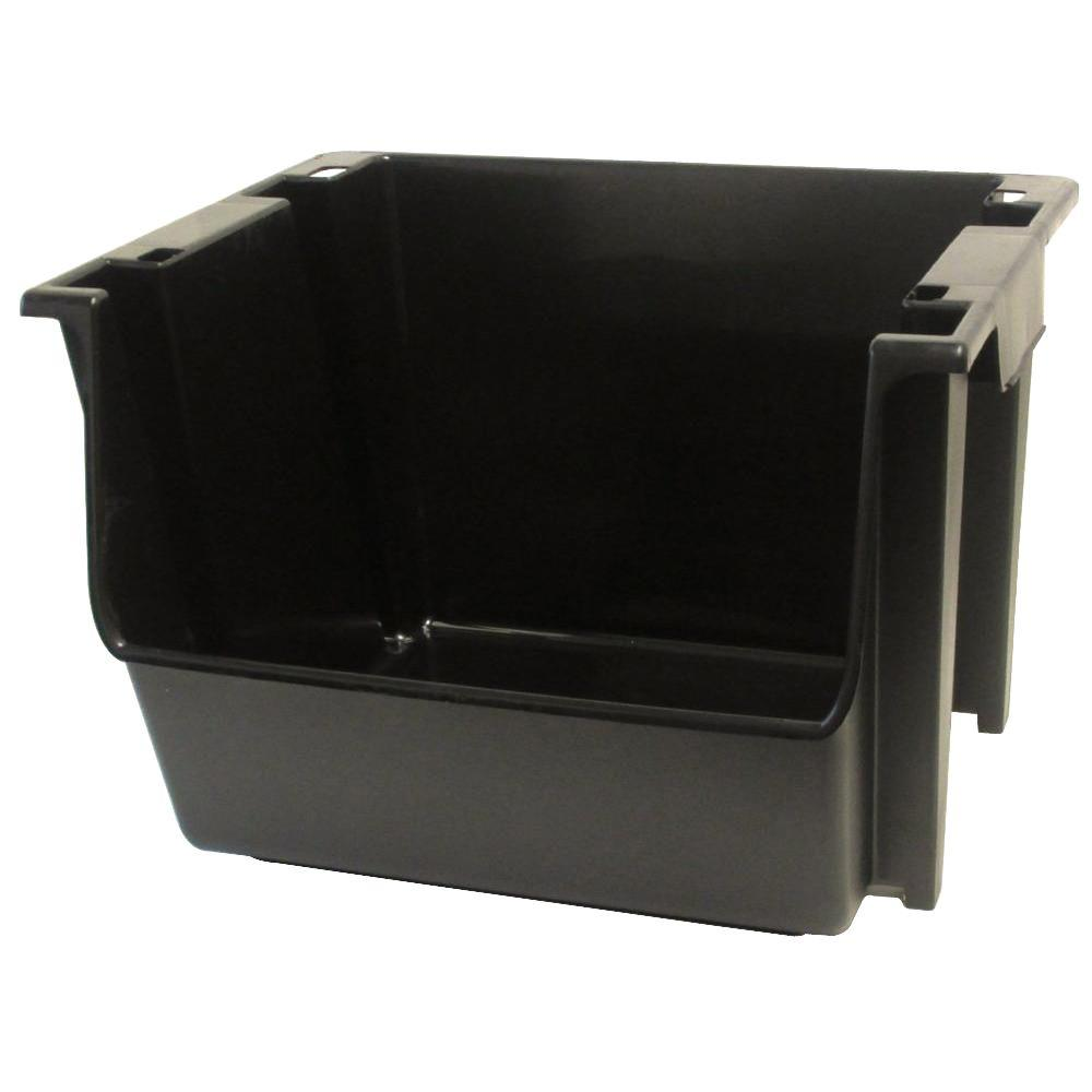 black large nestingstacking bin case of 6 - Plastic Stackable Bins