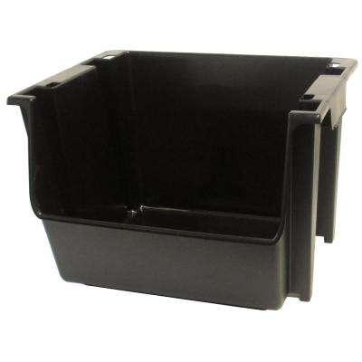5 Gal. Black Large Nesting/Stacking Bin (Case of 6)