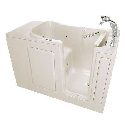 Exclusive Series 48 in. x 28 in. Right Hand Walk-In Whirlpool and Air Bath Tub with Quick Drain in Linen