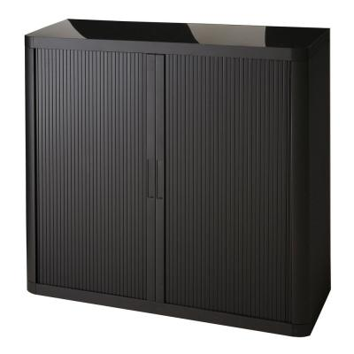 Paperflow easyOffice Black 41 in. Tall Storage Cabinet with 2-Shelves