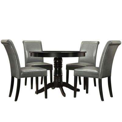 Marist 5-Piece Grey Dining Set