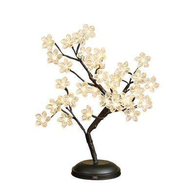 18 in. Outdoor Bonsai Flower LED Lighted Tree