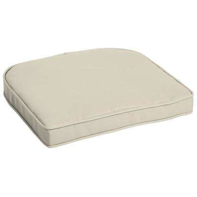 Sand Canvas Texture Contoured Outdoor Seat Cushion
