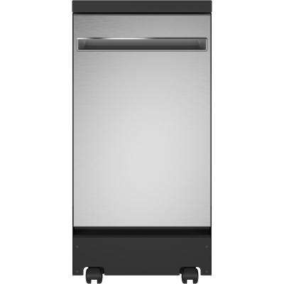 Portable Dishwasher in Stainless Steel with 8 Place Settings Capacity, 52 dBA