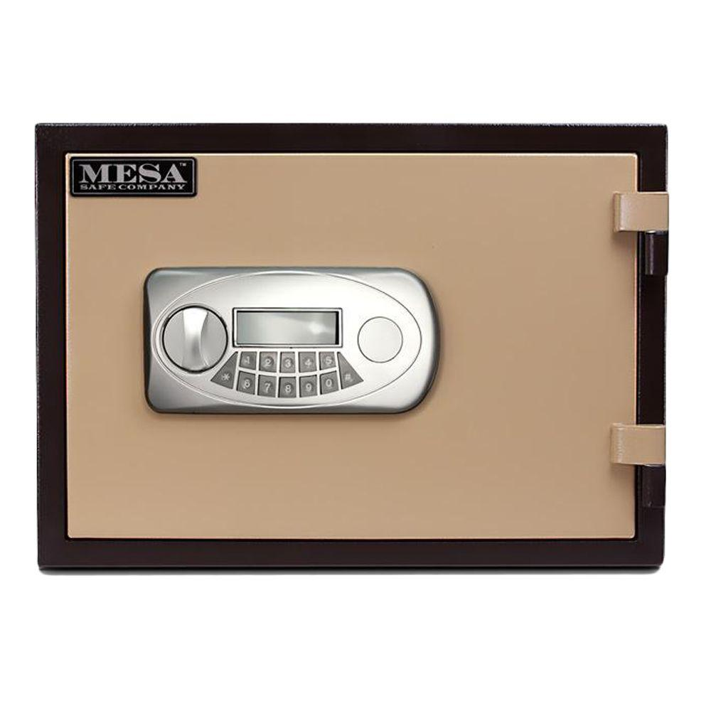 MESA 0.5 cu. ft. U.L. Classified All Steel Fire Safe with Electronic Lock in 2-Tone Brown and Tan-DISCONTINUED