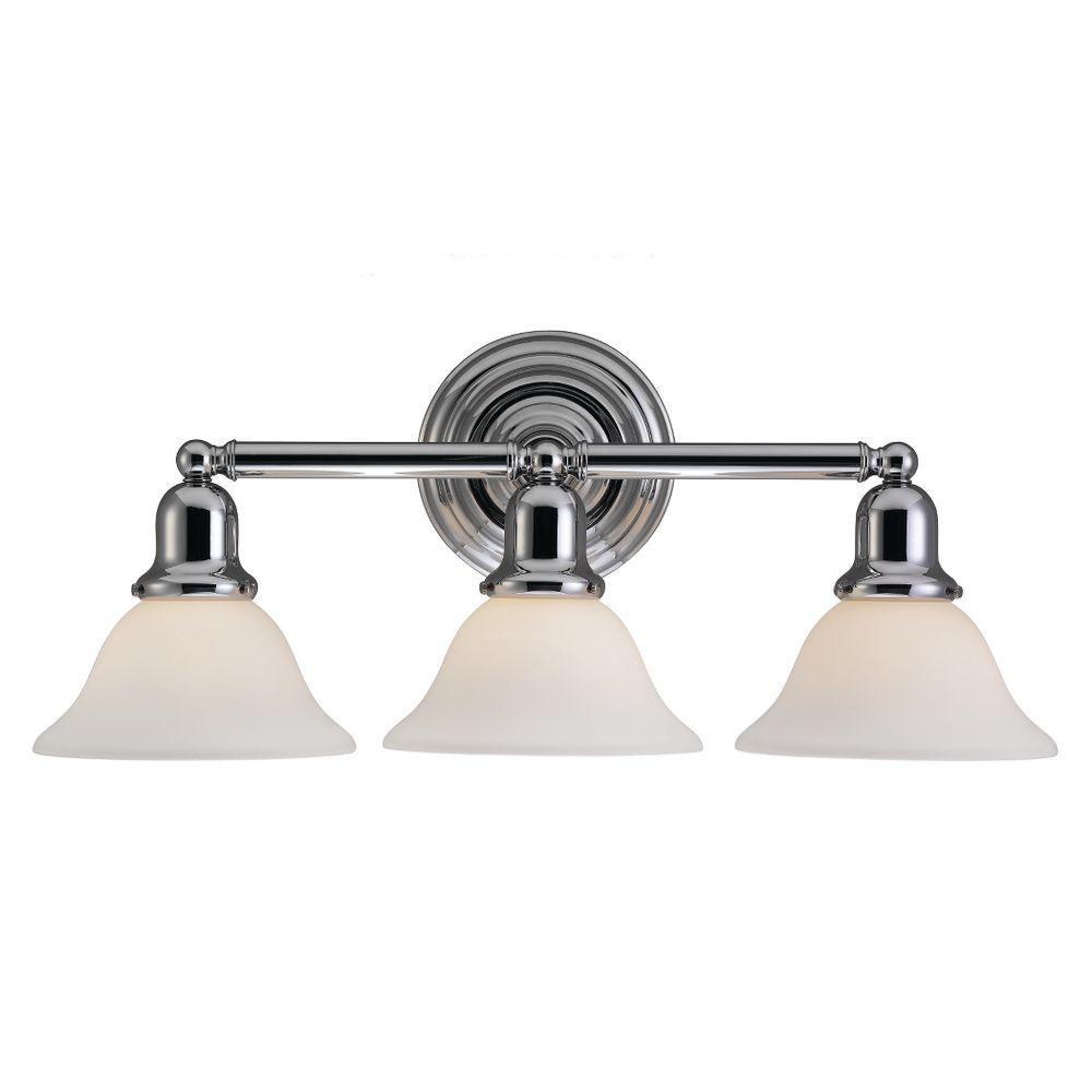 Sussex 3-Light Chrome Vanity Light