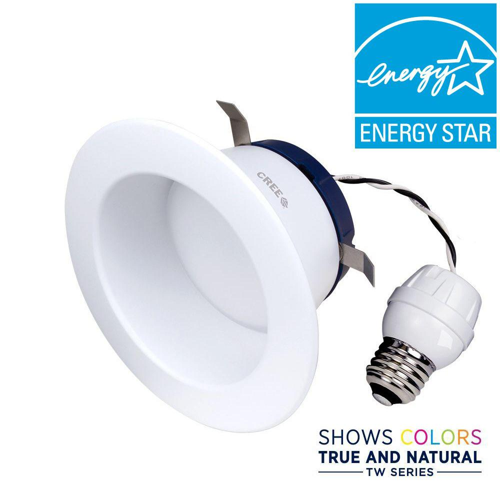 Cree TW Series 65W Equivalent Soft White (2700K) 4 in. Dimmable ...