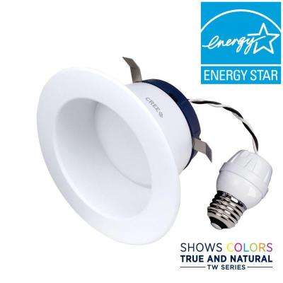 TW Series 65W Equivalent Soft White (2700K) 4 in. Dimmable LED Retrofit Recessed Downlight
