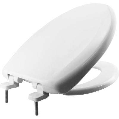 Marvelous Hospitality Elongated Closed Front Toilet Seat In White Machost Co Dining Chair Design Ideas Machostcouk
