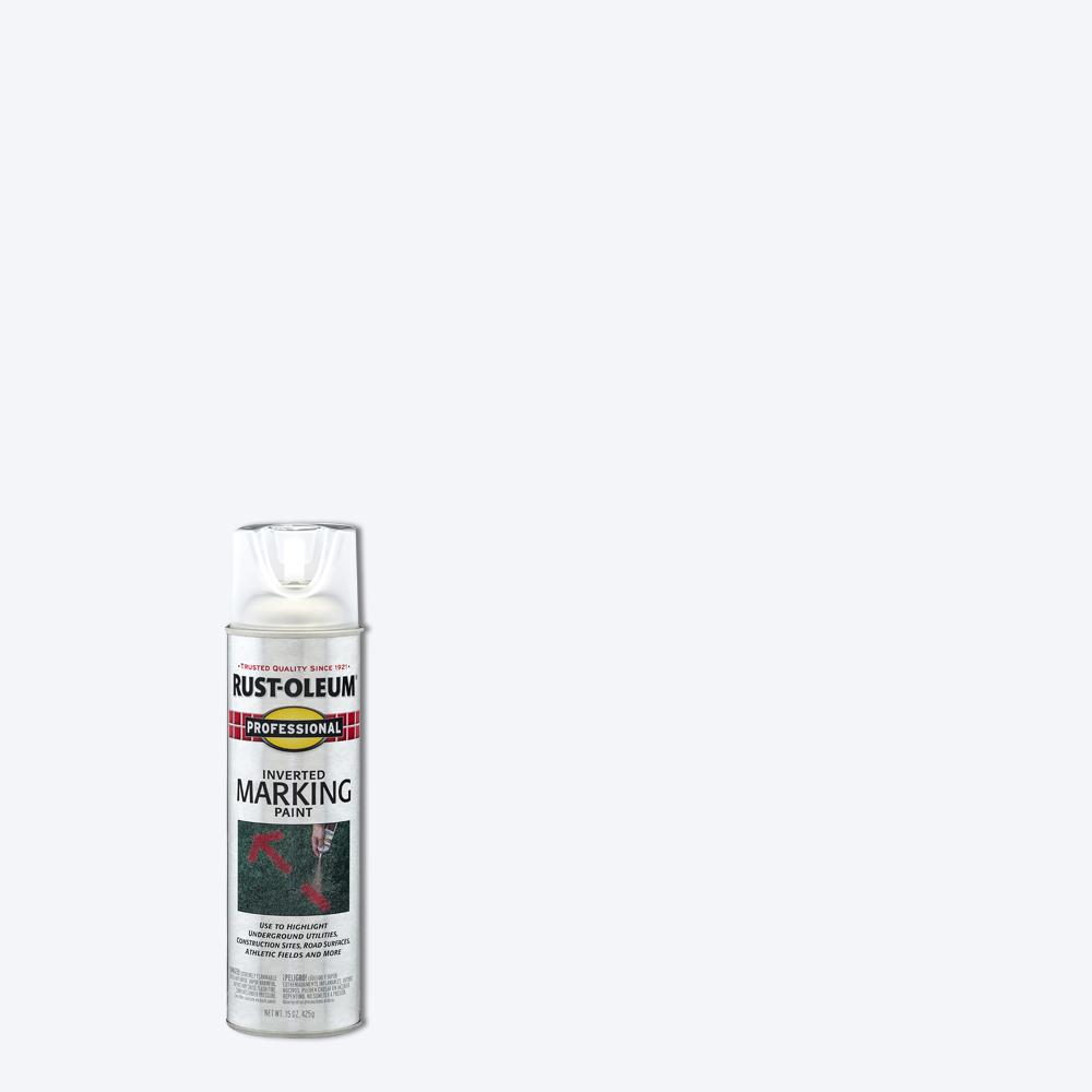 Rust-Oleum Professional 15 oz. Clear Inverted Marking Spray Paint