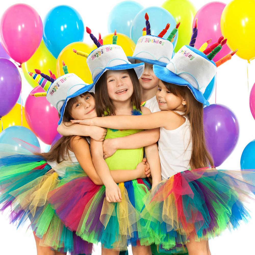 Marvelous Novelty Place Blue Plush Happy Birthday Cake Hat Adult Size Funny Birthday Cards Online Aboleapandamsfinfo