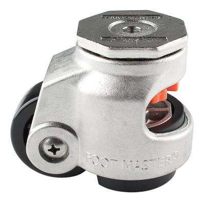 2-1/2 in. Nylon Cast Stainless Steel Wheel Stem Leveling Caster with Load Rating 1100 lbs.
