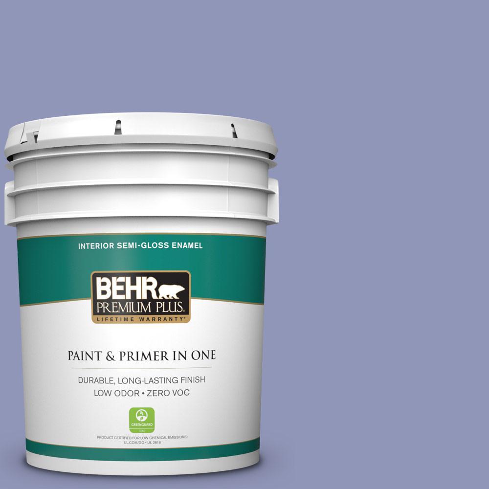 5-gal. #BIC-20 Lively Lilac Semi-Gloss Enamel Interior Paint