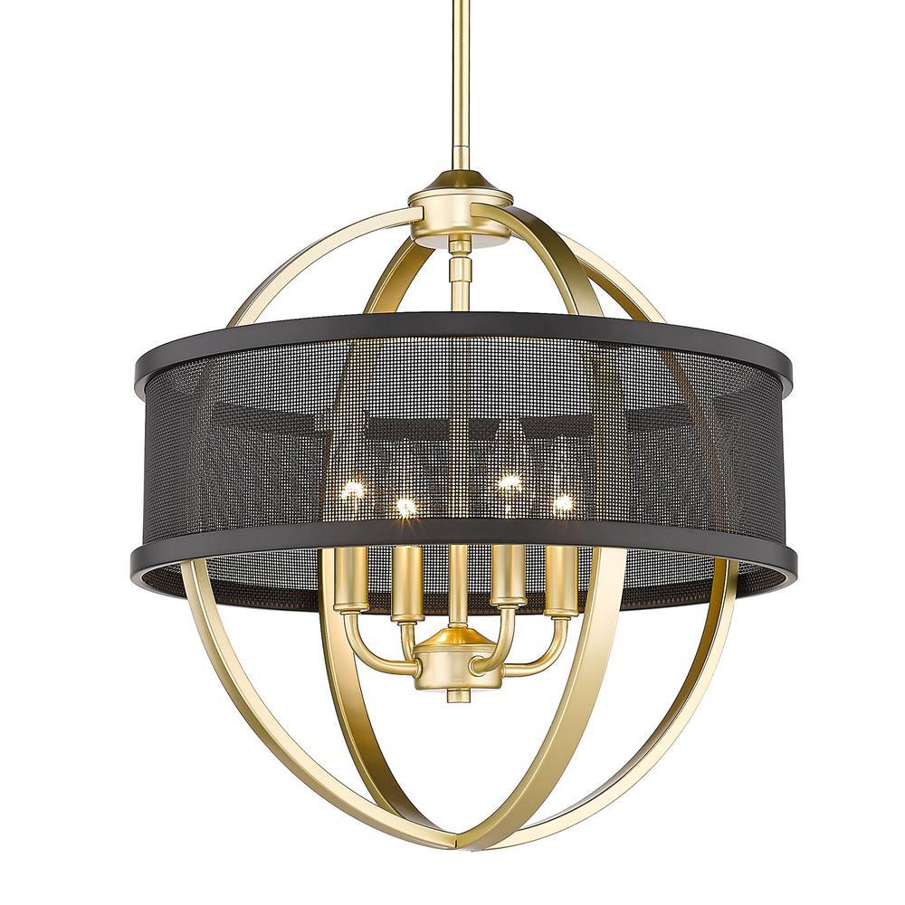 Colson 4-Light Olympic Gold Globe Chandelier