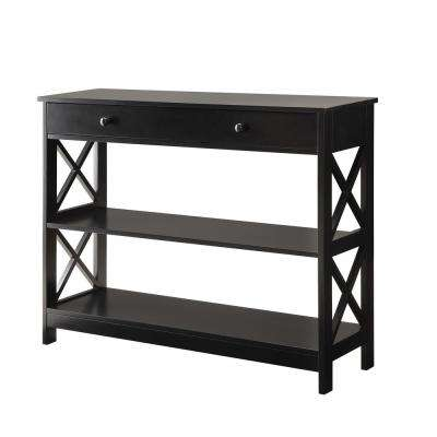 Oxford Black 1-Drawer Console Table