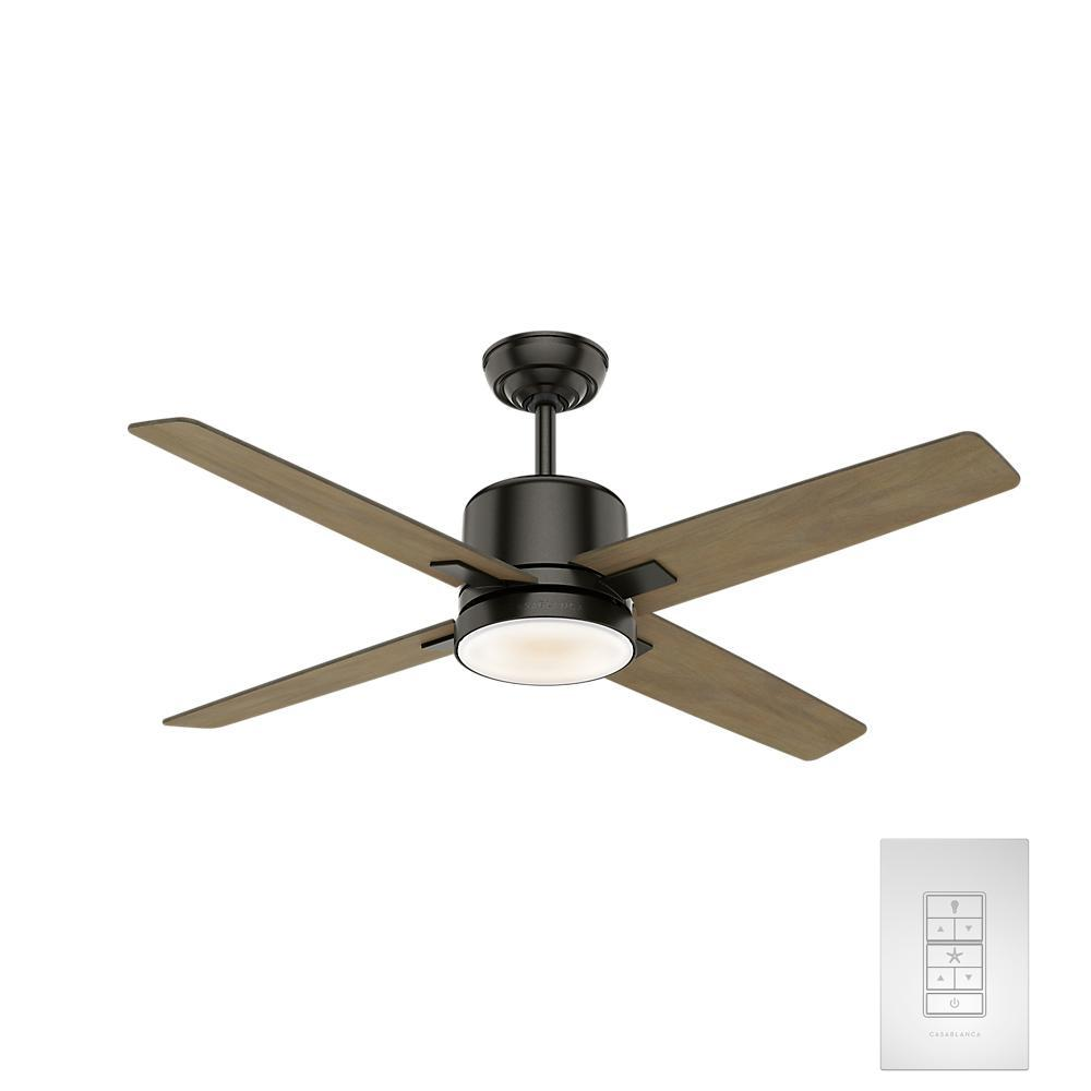 Axial 52 in. LED Indoor Noble Bronze Ceiling Fan with Light