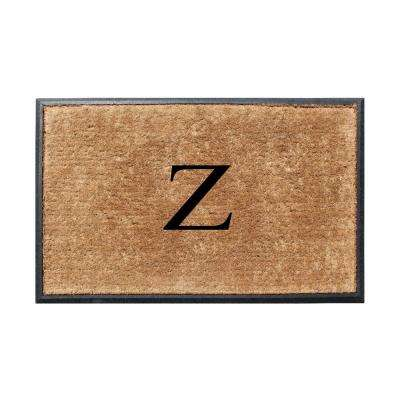 A1HC First Impression 30 in. x 48 in. Rubber and Coir Molded Double Monogrammed Door Mat