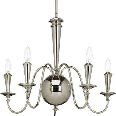 Identity Collection 5-Light Polished Nickel Chandelier