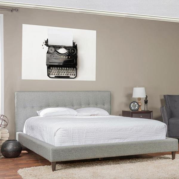 Baxton Studio Ethel Gray King Upholstered Bed 28862-6006-HD