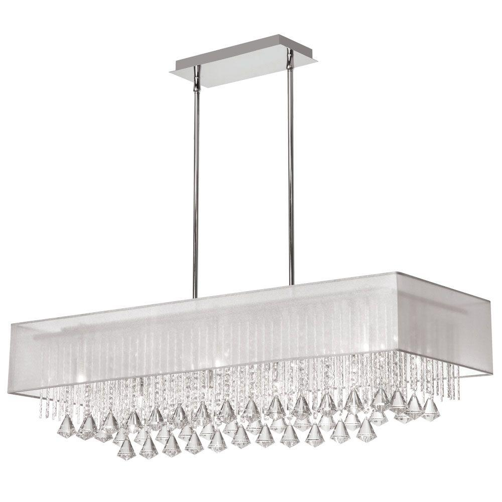 Radionic hi tech jacqueline 10 light polished chrome crystal radionic hi tech jacqueline 10 light polished chrome crystal horizontal chandelier with white shade aloadofball Gallery