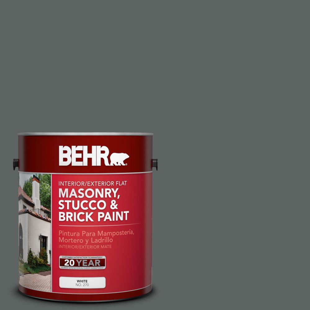 1 gal. #BXC-41 Charcoal Flat Interior/Exterior Masonry, Stucco and Brick Paint