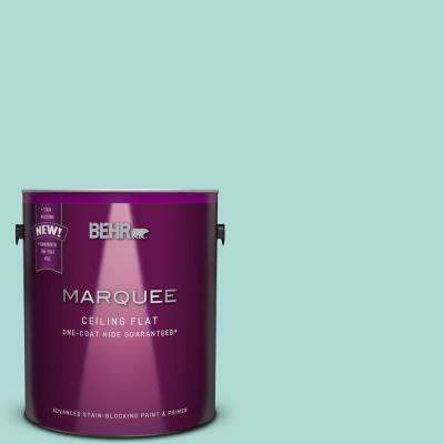 1 gal. #M450-3 Tinted to Wave Top One-Coat Hide Flat Interior Ceiling Paint and Primer in One