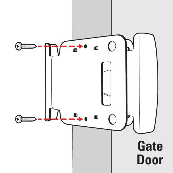 Gate Latch Fence Gates Handle Latches 2Way Reversible Push Pull Open Activation