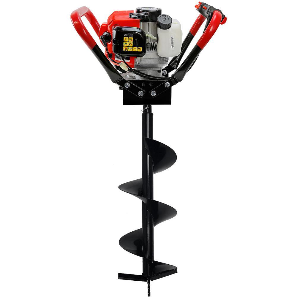 Xtremepowerus 55cc 1 Man Post Hole Digger With 10 In Bit Kit013