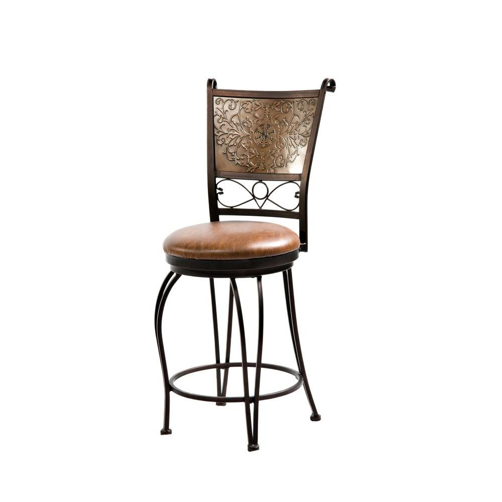 Powell 24 In Bronze And Copper Cushioned Bar Stool 222