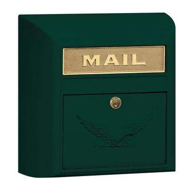 4100 Series 14.5 in. W x 14.5 in. H x 6 in. D Green Eagle Door Modern Mailbox