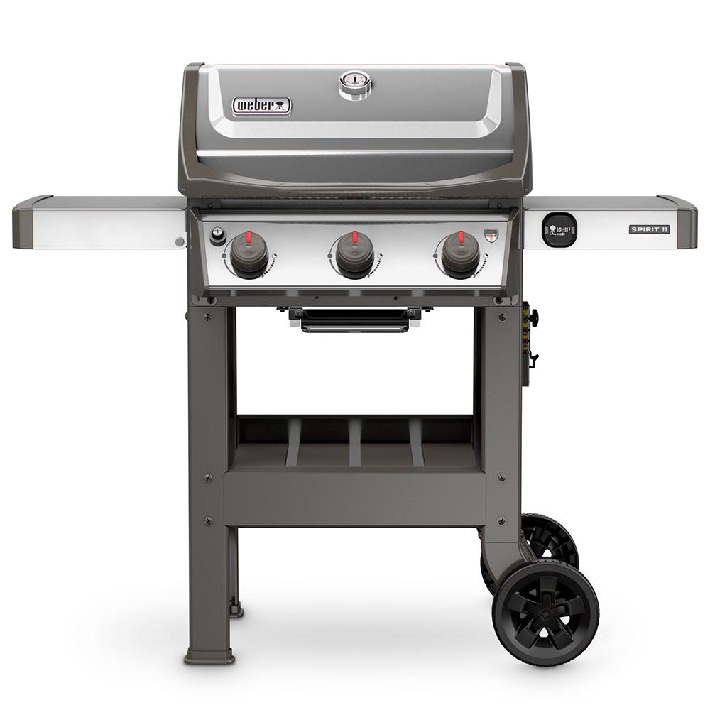 weber spirit ii s 310 3 burner propane gas grill stainless. Black Bedroom Furniture Sets. Home Design Ideas
