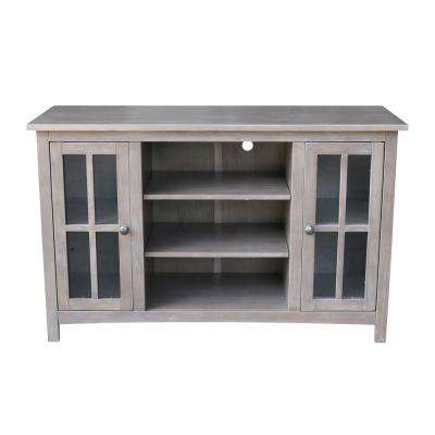 48 in. W Taupe Gray Storage TV Stand