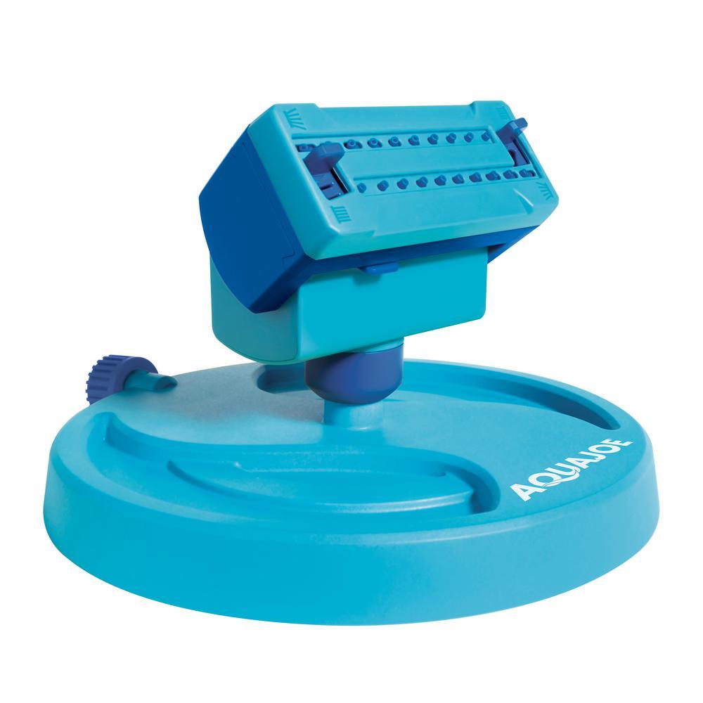 Sun Joe 20-Nozzle Max Coverage Adjustable Gear Driven Oscillating Sprinkler on Sled Base
