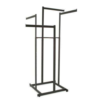 Black Steel Clothes Rack (44 in. W x 72 in. H)