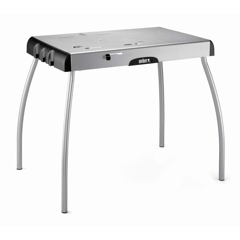 Weber portable table for smokey joe silver gold charcoal for Table locks acquired immediately 99