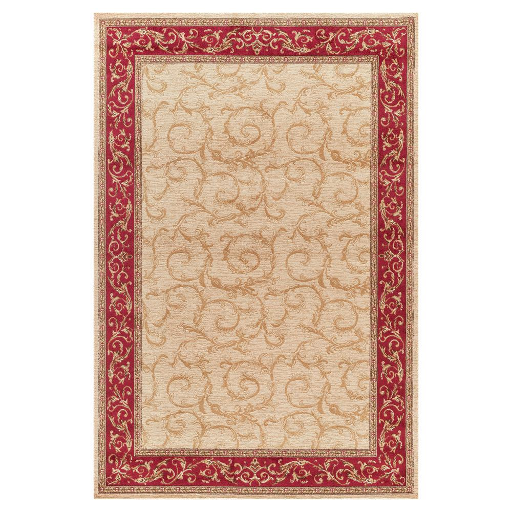 Concord Global Trading Jewel Veronica Ivory 6 ft. 7 in. x 9 ft. 3 in. Area Rug