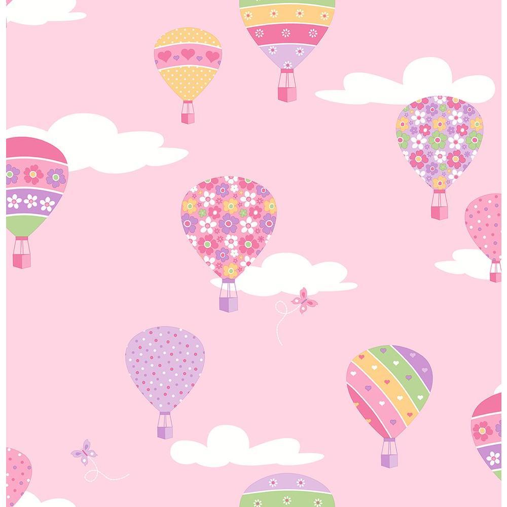 Brewster Pink Hot Air Balloons Wallpaper 2679 002114