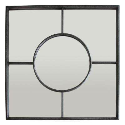 31.5 in. Metal Wall Mirror Decoration