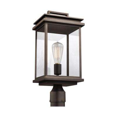 Glenview 1-Light Outdoor Antique Bronze Post Light