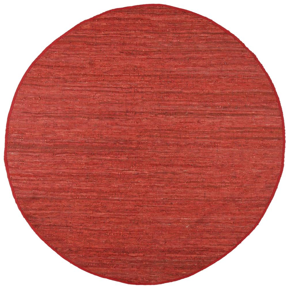 Leather Matador Copper 3 ft. x 3 ft. Round Area Rug