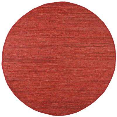 Leather Matador Copper 8 ft. x 8 ft. Round Area Rug