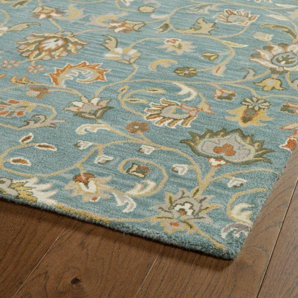 Kaleen Middleton Turquoise 3 Ft X 5 Ft Area Rug Mid05 78 35 The Home Depot