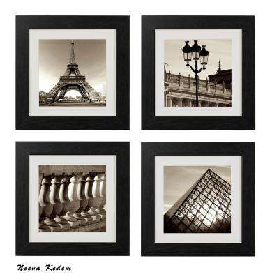 "Four 10 in. x 10 in. ""Vintage Paris"" by Neeva Kedem Framed Printed Wall Art"