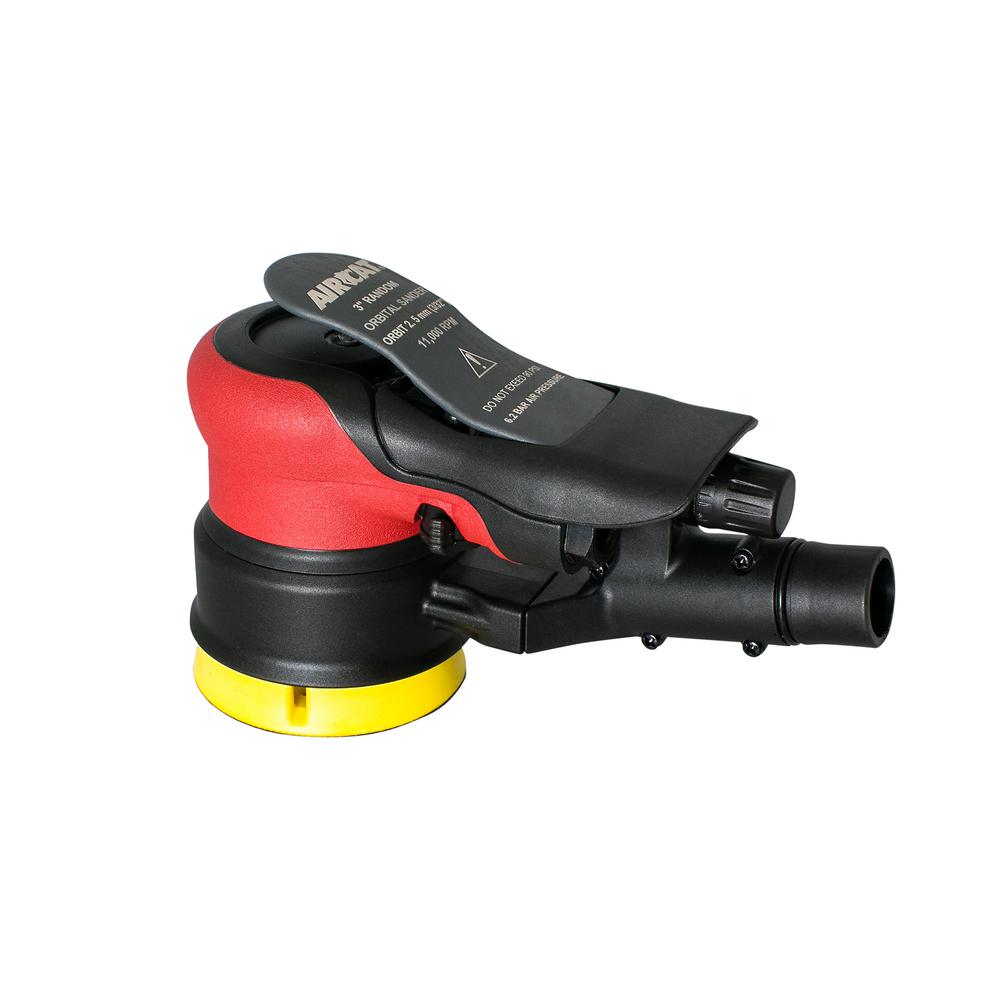 3 in. Composite Central Vac Orbital Palm Sander (3/16 in. Orbit)