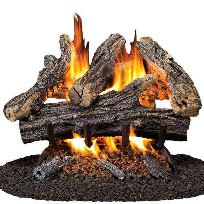 18 in. Vented Natural Gas Fireplace Log Set