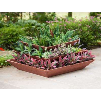 Wooden 3-Tier Pyramid Planter