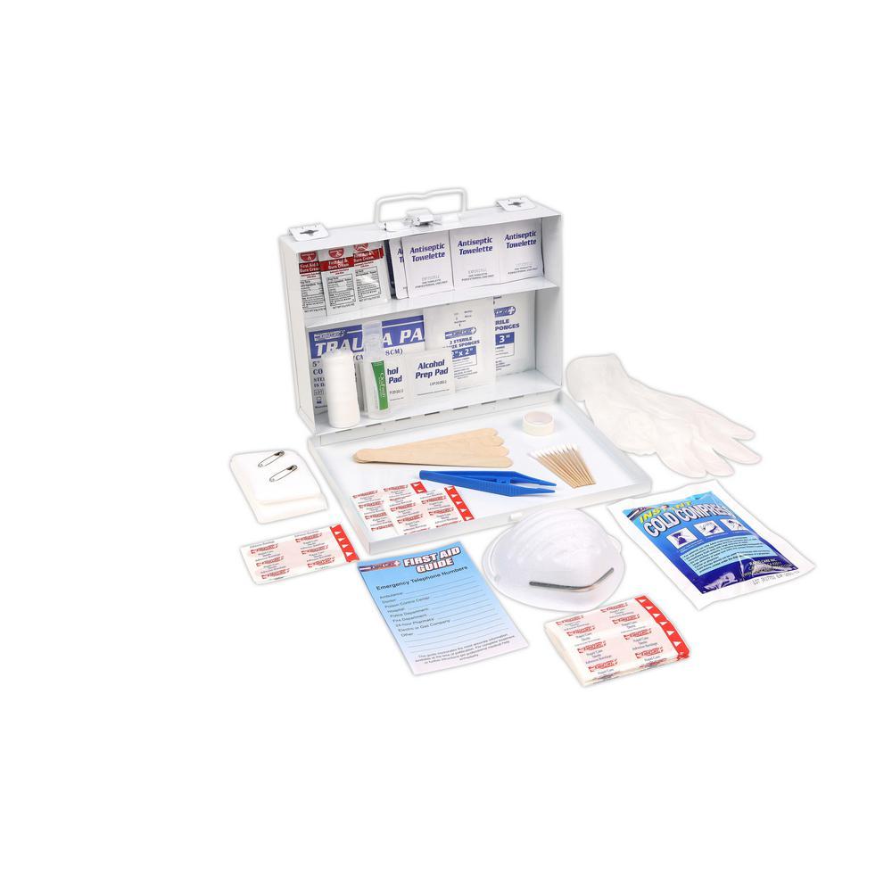 166-Piece 25 Person OSHA/ANSI Metal First Aid Kit