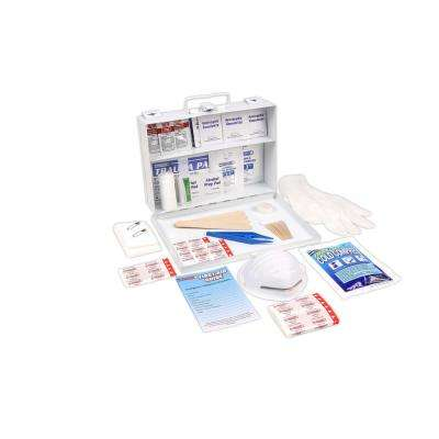 166-Piece 25 Person OSHA/ANSI Metal First Aid Kit