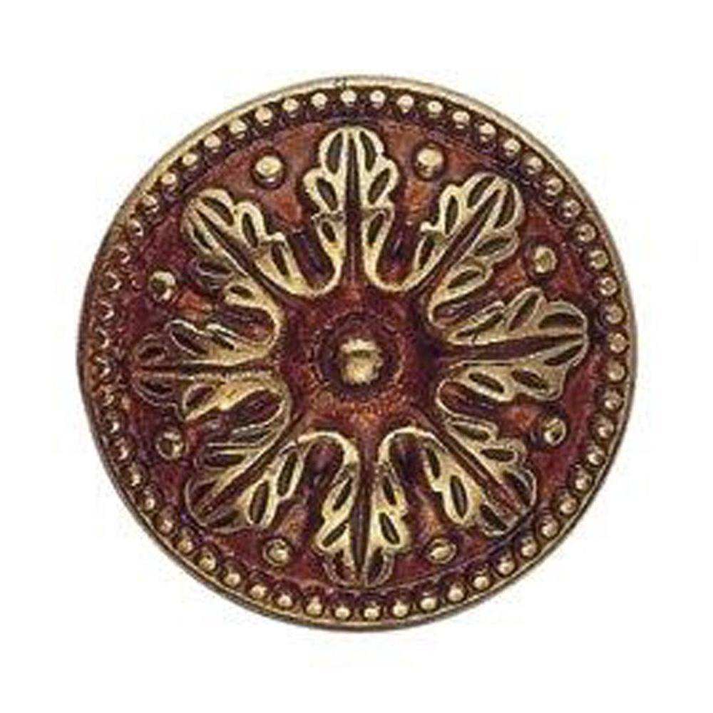 Bosetti Marella 1.22 in. Diameter Louis XVI French Antique Brass Round Knob