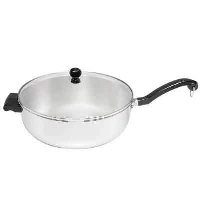 Classic Series 12 in. Stainless Steel Skillet with Glass Lid